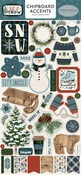 Let It Snow Chipboard Accents - Carta Bella