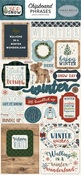 Let It Snow Chipboard Phrases - Carta Bella