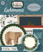 Let It Snow Ephemera - Carta Bella