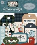 Let It Snow Frames & Tags Ephemera - Carta Bella