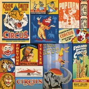 Multi Journaling Cards Paper - Circus - Carta Bella