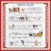 Music Sheet Paper - Circus - Carta Bella