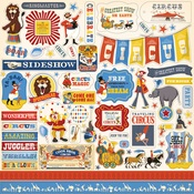 Circus Sticker Sheet - Carta Bella
