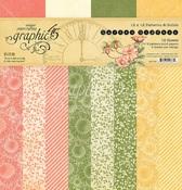 Garden Goddess 12 x 12 Patterns & Solids Pad - Graphic 45
