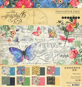 Flutter 8 x 8 Paper Pad - Graphic 45 - PRE ORDER