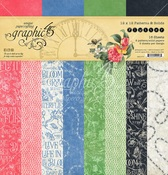 Flutter 12 x 12 Patterns & Solids Pad - Graphic 45 - PRE ORDER