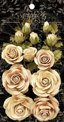 Classic Ivory & Natural Linen Rose Bouquet Collection - Graphic 45