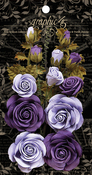 French Lilac & Purple Royalty Rose Bouquet Collection - Graphic 45