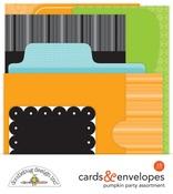 Pumpkin Party Cards & Envelopes - Doodlebug