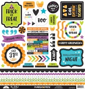 Pumpkin Party This & That Sticker Sheet - Doodlebug