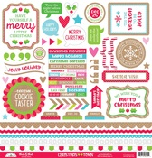 Christmas Town This & That Sticker Sheet - Doodlebug