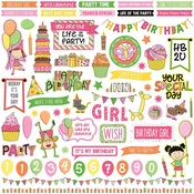 Birthday Girl Wishes Element Sticker Sheet - Photoplay