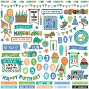 Birthday Boy Wishes Element Sticker Sheet - Photoplay