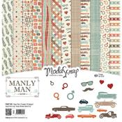 "Manly Man - 12"" X 12"" Paper Pack - Elizabeth Craft ModaScrap"