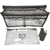 "Clear W/Steel Gray Trim - Deluxe Handy Caddy 14""X7""X5"""