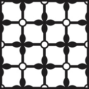 """Grand Palace - Prima Re-Design Heavy Duty Concrete Stencil 11.5""""X11.5"""""""