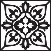 """Marrakesh - Prima Re-Design Heavy Duty Concrete Stencil 11.5""""X11.5"""""""