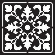 """Meknes - Prima Re-Design Heavy Duty Concrete Stencil 11.5""""X11.5"""""""