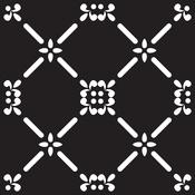 """French Dame - Prima Re-Design Heavy Duty Concrete Stencil 11.5""""X11.5"""""""