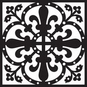 """Sahara - Prima Re-Design Heavy Duty Concrete Stencil 11.5""""X11.5"""""""