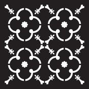 """Madina - Prima Re-Design Heavy Duty Concrete Stencil 11.5""""X11.5"""""""