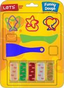 W/2 Spatulas & 6 Shape Cutters - Let's Have Fun Fun Dough Kit 13pcs