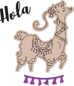 Diva Llama - Sizzix Framelits Die & Stamp Set By Katelyn Lizardi