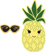 Sunny Pineapple - Sizzix Framelits Die & Stamp Set By Katelyn Lizardi