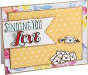 Sending You Love - Sizzix Framelits Die & Stamp Set By Katelyn Lizardi