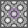 Dainty Fleur - Prima Re-Design Decor Stencil 22 X22  Use these detailed stencils for decorating walls, furniture, floors and more. Easy-to-use and perfect to add accents or redesign a whole area of your home. This package contains one 22x22 inch stencil. Imported.