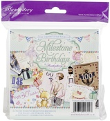 "Milestone Birthdays, 25 Designs/6 Each - Hunkydory The Square Little Book Of 5""X5"" Paper Pad 150/Pkg"
