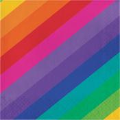 Rainbow Luncheon Napkin 16/Pkg