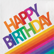 Rainbow Birthday Luncheon Napkins 16/Pkg