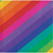 Rainbow Beverage Napkins 16/Pkg