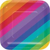 Rainbow Luncheon Plate 8/Pkg