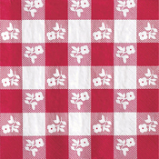 Red - Gingham Luncheon Napkins 18/Pkg