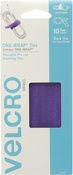 "Purple - VELCRO(R) Brand ONE-WRAP(R) Ties 5""X14"" 10/Pkg"