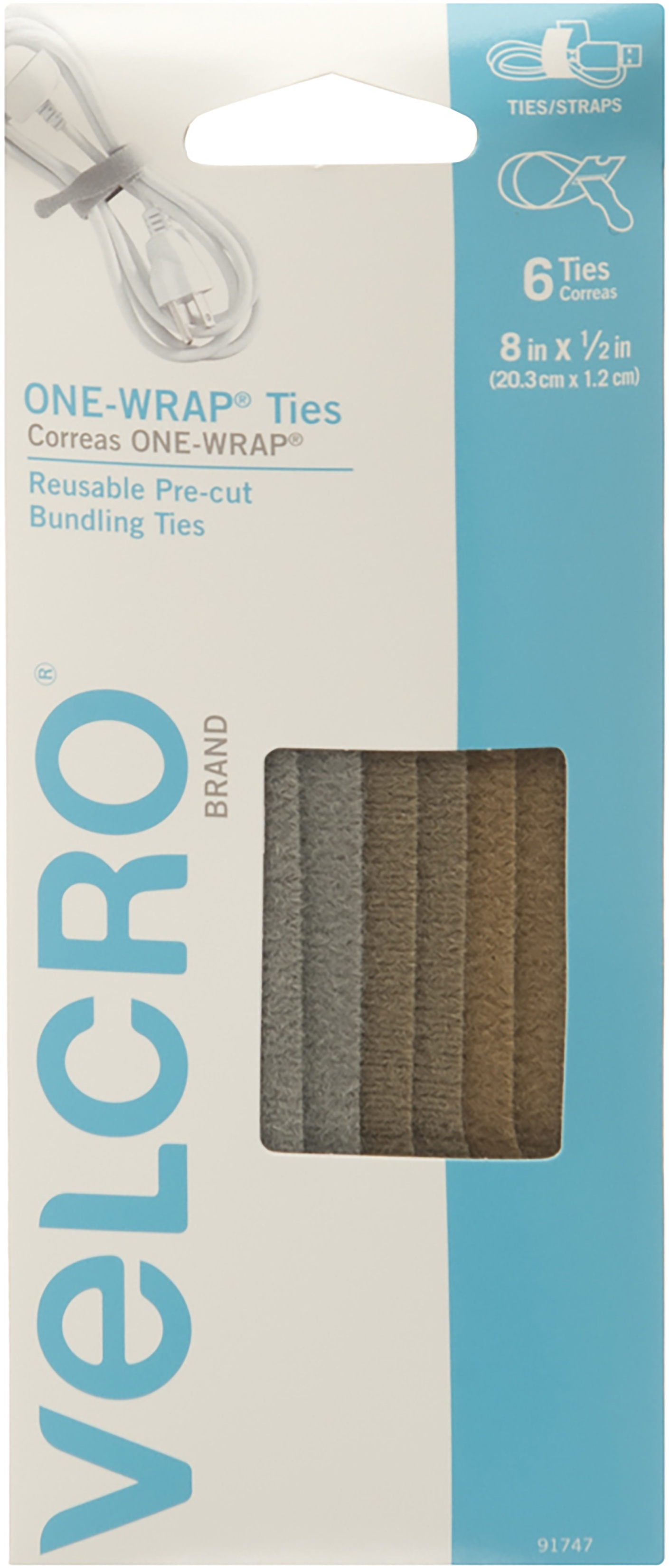 Military Multi-Color - VELCRO(R) Brand ONE-WRAP(R) Thin Ties .5