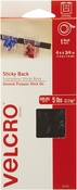 "Black - VELCRO(R) Brand Sticky Back Tape .75""X4'"