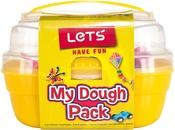 6 Soft Dough Colors & 6 Tools - Let's Have Fun My Dough Pack 12pcs