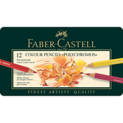 Polychromos Colored Pencil Set In Metal Tin 12pc