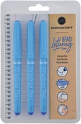 Blue Ink - Manuscript Fineliner Pens Triple Pack