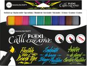 Assorted Colors - Manuscript CalliCreative FLEXI Tip Markers 12/Pkg