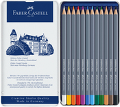 Goldfaber Aqua Watercolor Pencil Set In Metal Tin 12/Pkg