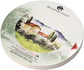 "Magnani Aquarello Toscana Round Water Color Block 6.3"""
