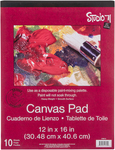 "10 Sheets - Studio 71 Canvas Pad 12""X16"""