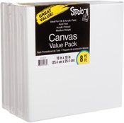 "10""X10"" - Studio 71 Stretched Canvas Value Pack 8/Pkg"
