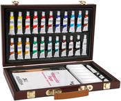 - Studio 71 Wood Box Watercolor Painting Set 34/Pkg