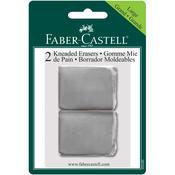 - Grey Kneaded Art Erasers Blister Carded 2/Pkg