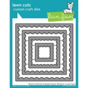 Reverse Stitched Scalloped Square Window Craft Die - Lawn Fawn - PRE ORDER